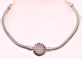 Ezüst (Ag.) Pandóra karkötő, h:16 cm, jelzett, bruttó: 12 g