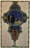 A budapesti 25. Szent Imre cserkész csapat képeslapja / Hungarian scout postcard s: Megyer M. Attila