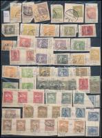 Magyar nyomdahibás érdekességek összeállítása 1900-1924 benne kisebb-nagyobb nyomási eltérések, ívszéli összegző számok, Ikarusz 10.000K, összesen 340 db bélyeg 3 db kétoldalas A4-es berakólapon