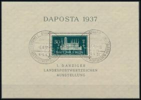 Daposta block pair with special cancellation, Daposta blokk pár alkalmi bélyegzéssel