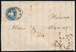 1865 10kr levélen MISKOLCZ - Pest