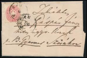 1866 5kr levélen PESTH - SZIRÁK