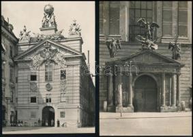 Bruno Reiffenstein (1868-1951): Bécsi városképek 5 db feliratozott, pecséttel és szárazpecséttel jelzett fotó / Austrian photographer Vienna photos with seal 17x11 cm