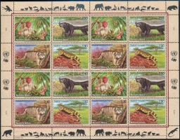 2002 Veszélyeztetett állatok kisív, Endangered species minisheet Mi 434-437