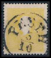 """2kr II. yellow, centered """"PESTH"""" Certificate: Steiner, 2kr II. típus sárga, élénk színű és szépen centrált """"PESTH"""" Certificate: Steiner"""
