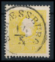 """2kr kénsárga II, erős szín, finoman centrált  """"SCHAESSBURG"""" Certificate: Steiner, 2kr sulfur yellow """"SCHAESSBURG"""" Certificate: Steiner"""