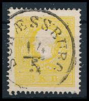 "2kr sulfur yellow ""SCHAESSBURG"" Certificate: Steiner, 2kr kénsárga II, erős szín, finoman centrált  ""SCHAESSBURG"" Certificate: Steiner"