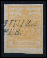 """1kr orange """"(KOST)AINIZA"""" Certificate: Strakosch, 1kr narancs HP Ia """"(KOST)AINIZA"""" Certificate: Strakosch"""