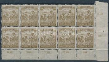 1920 Arató 600K ívsarki tízestömb (20.000)