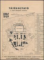 1939 BNV Budapesti Nemzetközi Vásár térképe és helyszínrajza 4 p. 24x31 cm