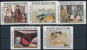 1981 Picasso, festmény vágott sor, Picasso, painting imperforated set Mi 827-831