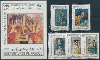 Picasso, painting set + block, Picasso, festmény sor + blokk