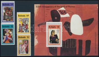 Picasso, paintings set + block, Picasso, festmények sor + blokk