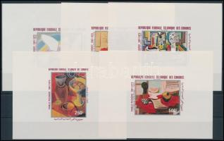 1981 Picasso, festmények sor blockformában, Picasso, paintings set in blockform Mi 620-624