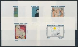 Picasso, paintings set imperforated blockform, Picasso, festmények sor vágott blokkformában