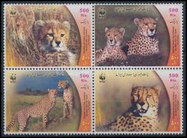 WWF Cheetah block of 4, WWF Gepárd négyestömb