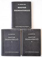 Dr. Unger Emil: Magyar éremhatározó I-II-III. kötet. Budapest, MÉE, 1974-1976. Használt, jó állapotban.