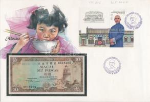 1986 120 éve született Sun Yatsen blokk FDC-n, bankjeggyel Mi 5