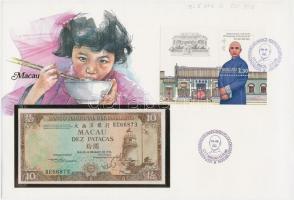 Makaó 1984. 10P borítékban, alkalmi bélyeggel bélyegzésekkel T:I Macau 1984. 10 Patacas in envelope with stamps C:UNC