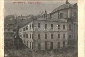 Selmecbánya, Schemnitz, Banská Stiavnica; Kolos intézet. Joerges 67. sz. / girl school (vágott / cut)