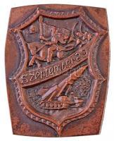 DN Szeptember 29 bronzozott fém emlékplakett (88x112mm) T:2 hátoldalán ragasztásnyom
