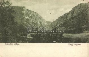 Szádelő, Zádiel; Szádelői völgy bejárata. Kiadja a Bodvavölgy nyomda / valley (EK)