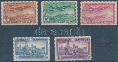 1931 Pánamerikai postakongresszus 5 érték a sorból Mi 592-596 (2 értéken kis rozsda)