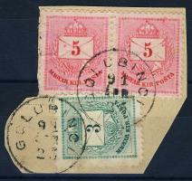 1881 3kr+5kr pár GOLUBINCI