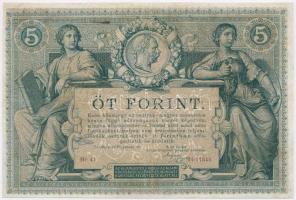 1881. 5Ft / 5G Osztrák-Magyar Bank piros sorszámozással T:III restaurált  Austro-Hungarian Monarchy 1881. 5 Forint / 5 Gulden with red serial number C:F restored  Adamo G127., Kodnar 107.