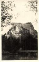 Árvaváralja, Oravsky Podzámok (Alsókubin mellett / near Dolny Kubín); Oravsky zámok / Árva vára, híd / Burgschloss / castle, bridge. photo