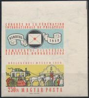 1959 FIP II. ívsarki vágott bélyeg felső szelvénnyel (3.500)