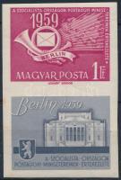 1959 Berlin vágott szelvényes bélyeg (4.000) (rozsda / stain)