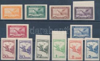 1927 Repülő I. vágott sor (75.000) (32f, 72f, 1P postatiszta / mint never hinged)