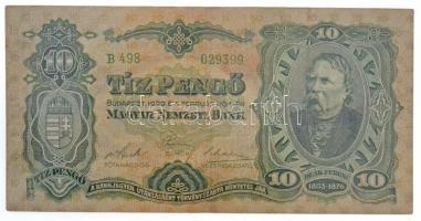 1929. 10P T:III  Hungary 1929. 10 Pengő C:F Adamo P8