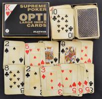 Piatnik Supreme Poker kártya, 2 pakli, 52+3+52+3 lapos, használt állapotban, saját dobozában.