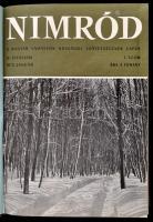 1972-1973 Nimród. Magyar Vadászok Országos Szövetségének Lapja. IV. évf. 1-12.,V. évf. 1-12. Két teljes évfolyam, egybekötve. Egészvászon-kötésben, jó állapotban.