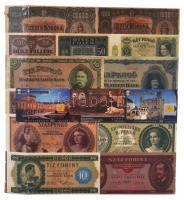 Négygyűrűs bankjegy berakó, 21 berakólappal, összesen 98 férőhellyel. Használt állapotban