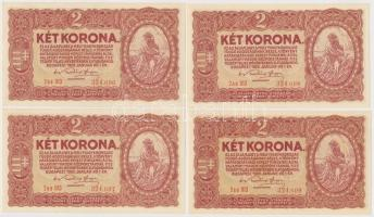 1920. 2K 2aa (4x) sorszámkövetők + 2K 2ab csillagos sorszám (4x) sorszámkövetők T:I,I-