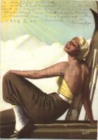 Delial senza subire bruciature per abbronzare al sole / Delial Italian tanning sun lotion advertisement (EK)