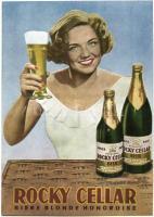 Rocky Cellar Biere Blonde Hongroise. magyar sörreklám / Hungarian beer advertisement