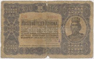 1923. 25.000K Orell Füssli Zürich T:IV  Hungary 1923. 25.000 Korona Orell Füssli Zürich C:VG Adamo K44