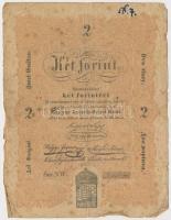 1848. 2Ft Kossuth bankó T:III-  Adamo G106