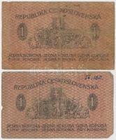 Csehszlovákia 1919. 1K (2x) T:III,III-  Czechoslovakia 1919. 1 Koruna (2x) C:F,VG Krause 6.a