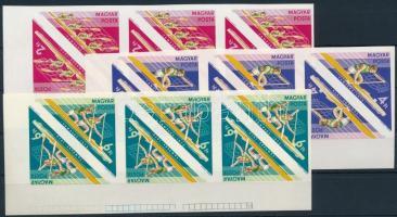1973 Vízisport VB vágott sor ívsarki 6-os tömbökben benne 2 tete beche sor (21.000+++)