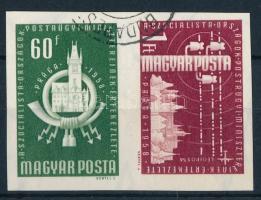 1958 Postaügyi miniszterek értekezlete vágott pár (3.000)