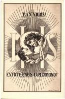 1938 Készüljünk a Magyar Kettő Szentévre! Kiadja a XXXIV. Nemzetközi Eucharisztikus Kongresszus és Szent István Jubileumi Év Főbizottsága / 34th International Eucharistic Congress art postcard s: Takács István (EK)