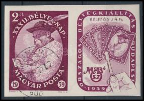 1959 Bélyegnap (32.) vágott szelvényes bélyeg vágott bélyeg (4.000)