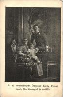 Az új trónörököspár, őfensége Károly Ferenc József, Zita főhercegnő és családja / Charles I of Austria, Zita and Otto, the Crown prince (EK)