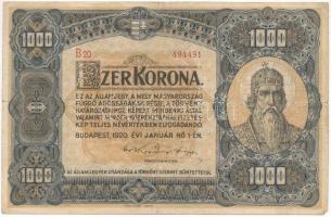 1920. 1000K Orell Füssli Zürich T:III  Adamo K36