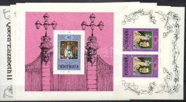 1978 II Erzsébet koronázási évfordulója kisívsor+blokk Mi 504-508+blokk 36